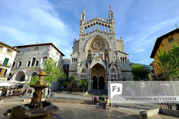 Sant Bartomeu Church  Soller  Majorca  Balearic Islands  Spain  Europe
