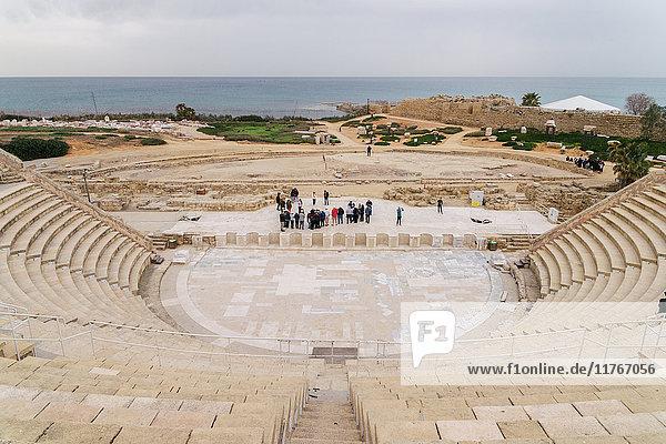 The ancient Roman amphitheatre in Caesarea  Israel  Middle East