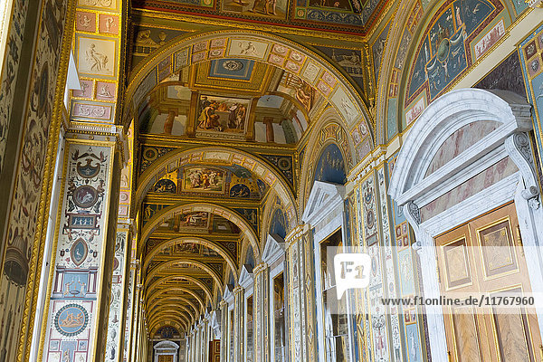 Interior ceiling of the Winter Palace  State Hermitage Museum  UNESCO World Heritage Site  St. Petersburg  Russia  Europe