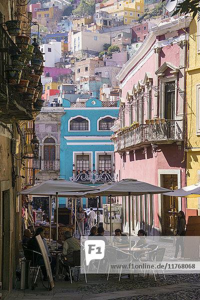 Street scene  Guanajuato  Mexico  North America
