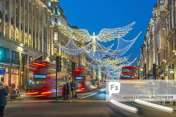 Christmas Lights  Regent Street  West End  London  England  United Kingdom  Europe