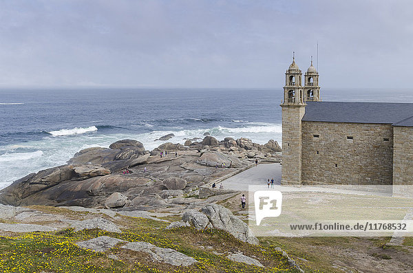 Nosa Senora da Barca (Our Lady of the Boat) Church in Muxia  A Coruna  Galicia  Spain  Europe
