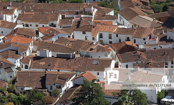 Alajar Village from Peña de Arias Montano Spain.