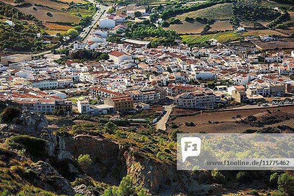 Es Mercadal Village. View from Toro Mount. Es Mercadal Municipality. Minorca. Balearic Islands. Spain