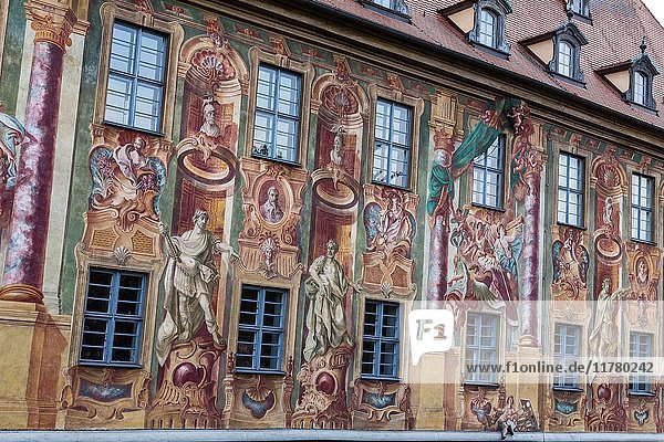 Bamberg  Bavaria  Germany  Europe. The typical houses in the Bamberg.