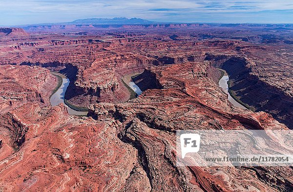 Aerial View  Green River  Canyonlands National Park  Utah  Usa  America.