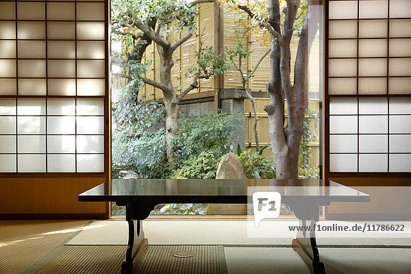 Japanese traditional ryokan interior  Tokyo  Japan