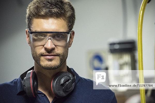 Factory worker  portrait