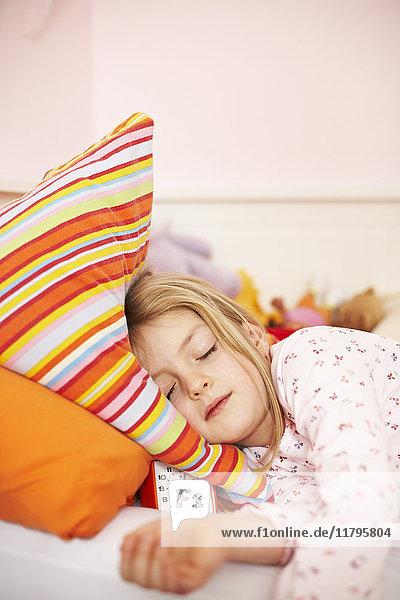 Porträt des schlafenden Mädchens