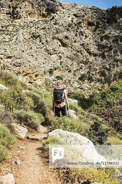 Griechenland,  Kreta,  Kato Zakros,  Totenschlucht,  Frauenwandern