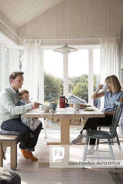 Family having meal
