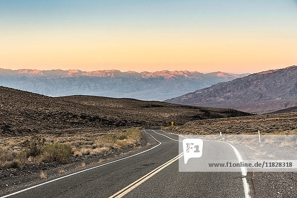 Winding road in Death Valley National Park  California  USA