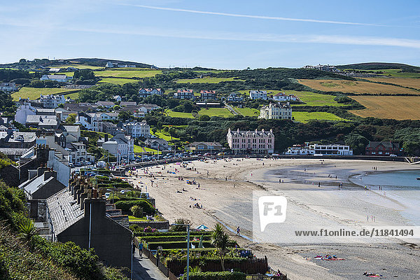 Beach of Port Erin  Isle of Man  crown dependency of the United Kingdom  Europe