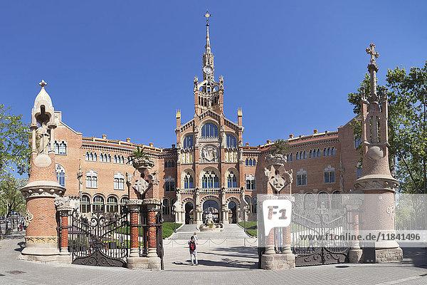 Sant Pau Hospital  Lluis Domenech i Montaner  UNESCO World Heritage Site  Modernisme  Barcelona  Catalonia  Spain  Europe