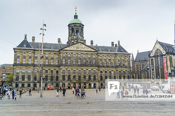 The Royal Palace in Dam Square  Amsterdam  Netherlands  Europe