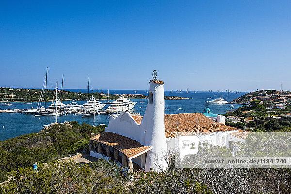 The bay of Porto Cervo  Costa Smeralda  Sardinia  Italy  Mediterranean  Europe