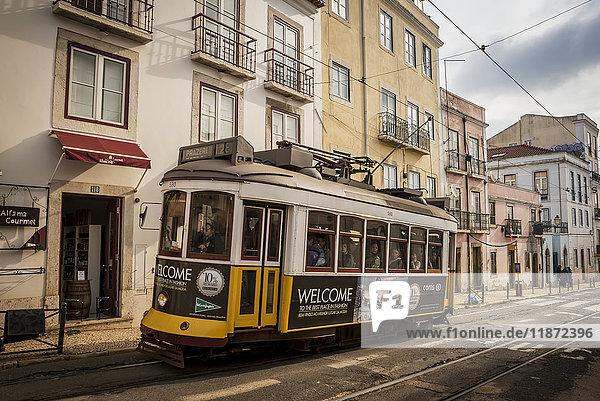 'Tram  Alfama; Lisbon  Portugal'