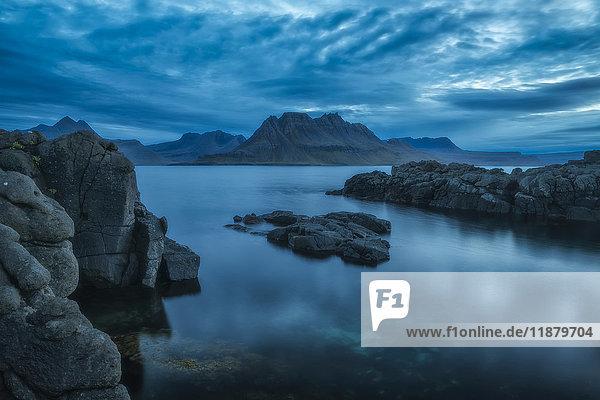 'Dusk over the Strandir Coast; West Fjords  Iceland'