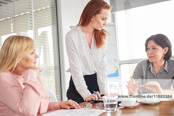 Businesswomen having discussion in meeting