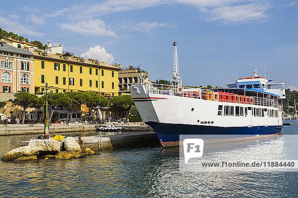 'Albatros ferry boat at dock; Porto Venere  La Spezia province  Italy'