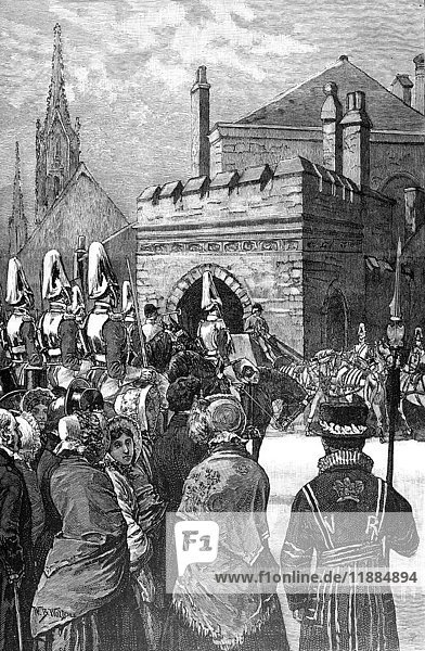 The life and times of Queeen Victoria 1901. Opening of parliment in 1846.Arrival of Royal Procession