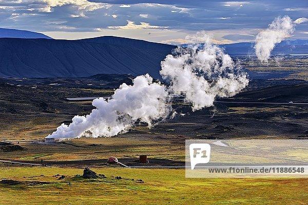 Bohrloch  Geothermalquelle  Reykjahlíð  Mývatni  Island  Europa