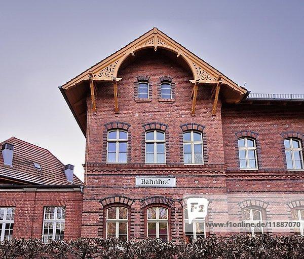 Bahnhofsgebäude  Heringsdorf  Usedom  Mecklenburg-Vorpommern  Deutschland  Europa