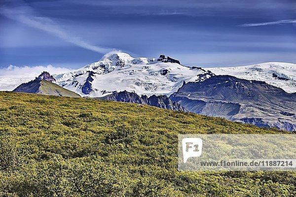Hvannadalshnúkur  Öræfajökull-Massiv  Gletscher Vatnajökull  Skaftafell  Austurland  Island  Europa