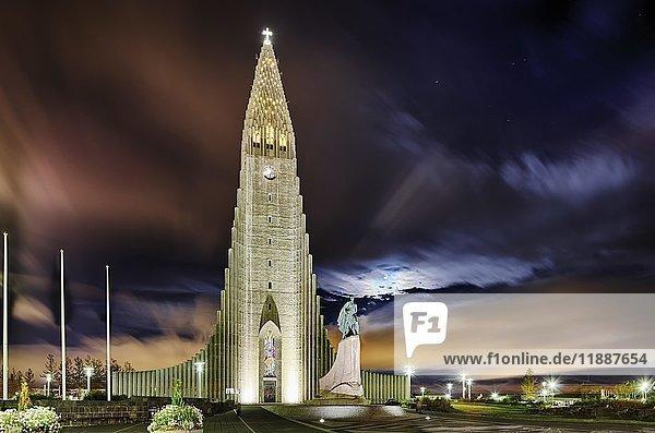 Hallgrímskirkja Kirche  Reykjavík  Island  Europa