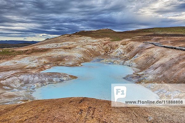 Krafla Vulkangebiet  Schwefelquellen  Leirhnjúkur  Reykjahlíð  Mývatni  Island  Europa