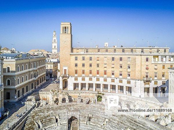 Historic city center of Lecce in Puglia  Italy  Europe