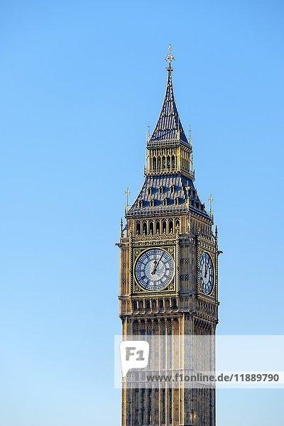 Uhrturm von Big Ben  London  England  Großbritannien  Europa