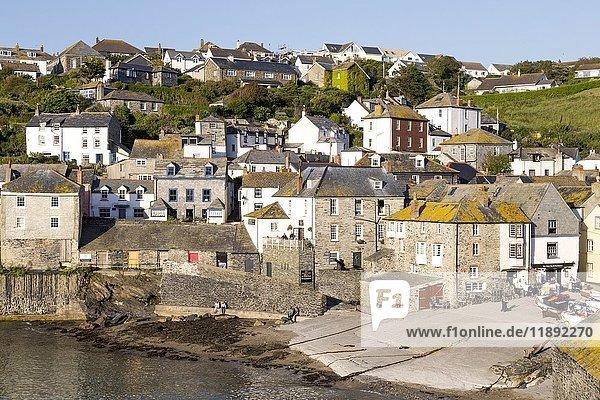 Häuser  Port Isaac  Nordküste  Cornwall  England  Großbritannien  Vereinigtes Königreich  Europa