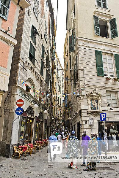Caruggi  old town  Genoa  Italy