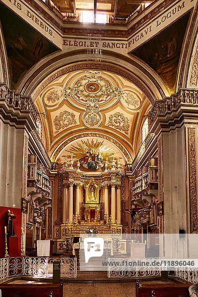 America  Mexico  Zacatecas  Guadalupe city  the chapel of Napoles in the church  of the Blessed Virgin of Guadalupe  Interior