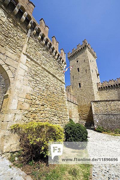 Castle of the Duchy of Parma and Piacenza  Vigoleno  Emilia Romagna  Italy