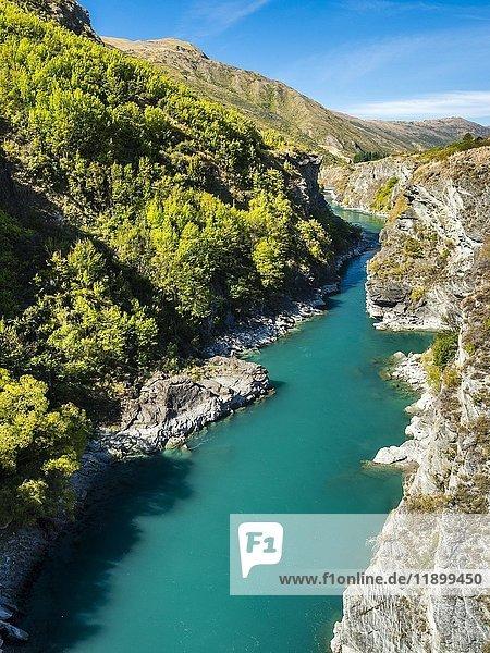 Schlucht Kawarau Gorge  Fluß Kawarau River  Destrict Queenstown Lake  Region Otago  Südinsel  Neuseeland  Ozeanien