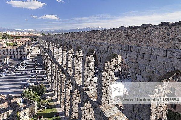 Roman aqueduct  UNESCO World Heritage Site  Segovia  Castilla y Leon  Spain  Europe