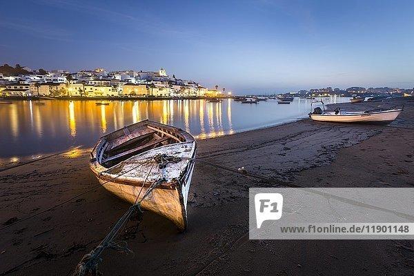 Boat  fishing village Ferragudo  Algarve  Portugal  Europe