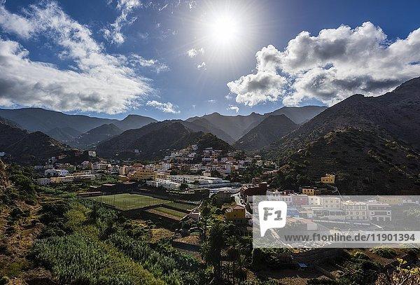 Dorf Vallehermoso  La Gomera  Kanarische Inseln  Spanien  Europa