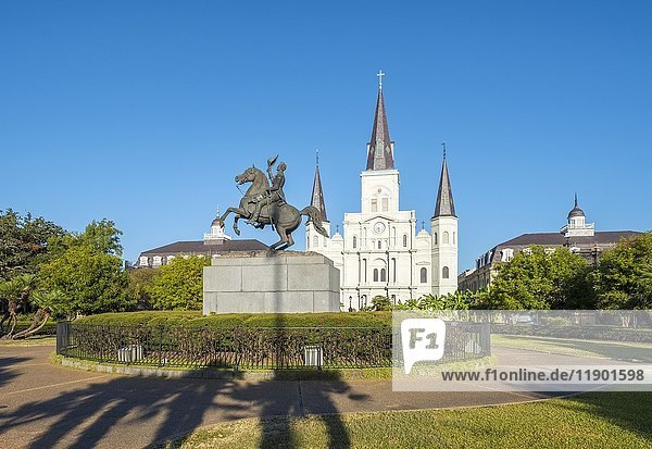 Saint Louis Kathedrale auf dem Jackson Square  New Orleans  Louisiana  USA  Nordamerika