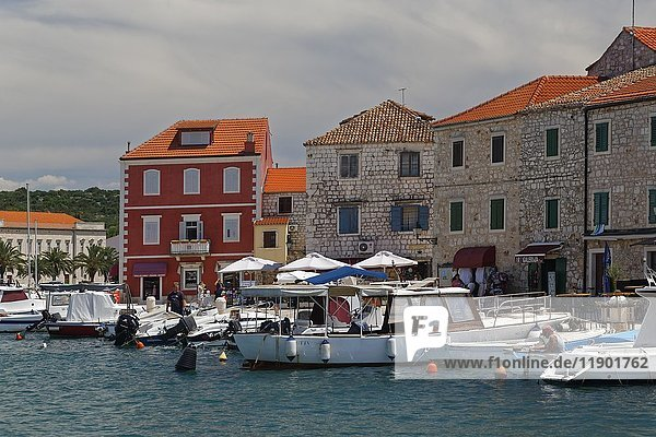 Port of European Starlingi Grad  island of Hvar  Spilit-Dalmatia  Croatia  Europe