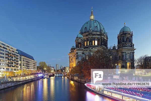 Spree and Berlin Cathedral  Berlin  Germany  Europe