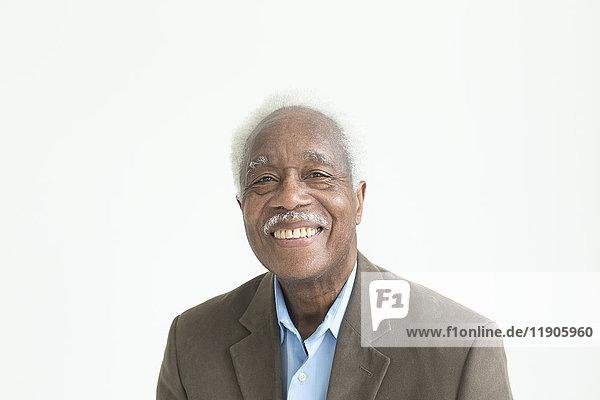 Portrait of smiling older Black man
