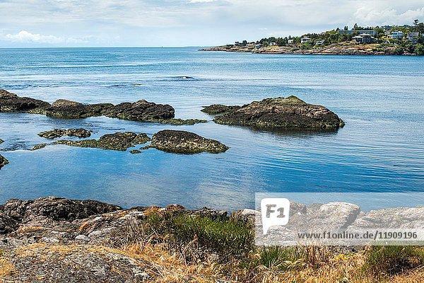Bay with rocks in Victoria  BC  British Columbia