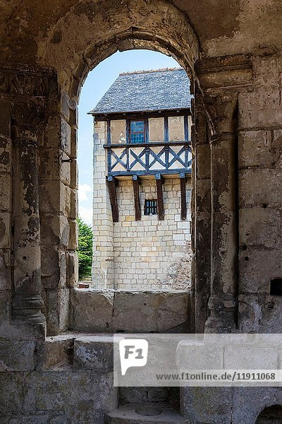 The Prior House from the Chapel of the Church at Saint Cosme Priory also called Home of Ronsard  La Riche  Tours District  Indre-et-Loire Department  Centre-Val de Loire Region  Loire valley  France  Europe.
