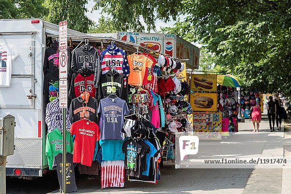 Washington,  DC - Souvenirs are sold to tourists from a truck near the White House.