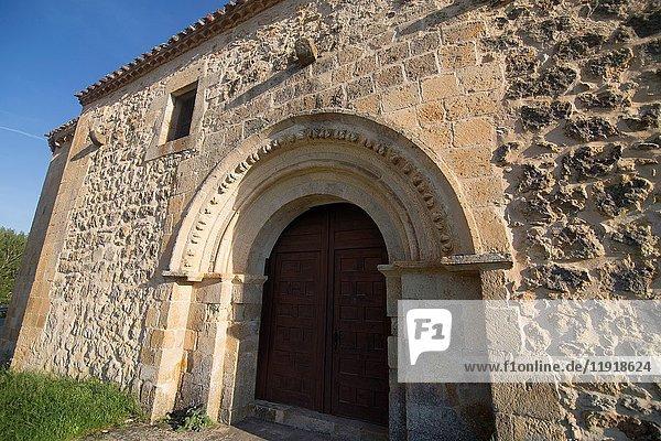 Medieval village of Calatanazor in Soria region  northern Spain Soledad chapel.