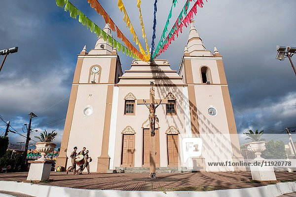 Feast of Saint Anthony - Church of Our Lady of the Rosary  decorated for the party - Barbalha - CE.