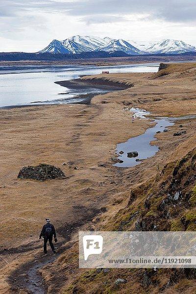 Hvammstangi beach. Iceland.